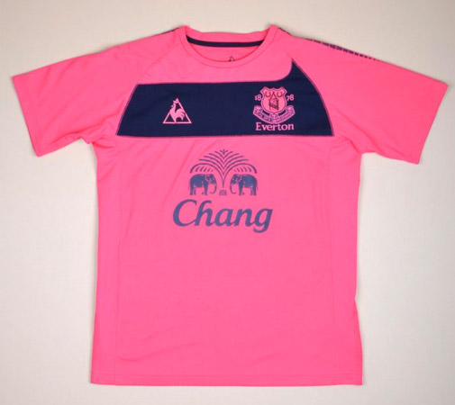 Lelijk voetbalshirt Everton